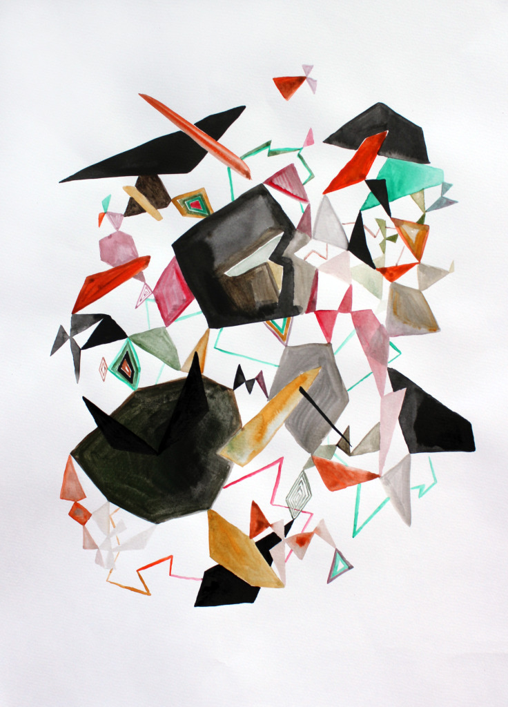 Karl Hofmann, Da Wang paintings, watercolor on paper, 2011
