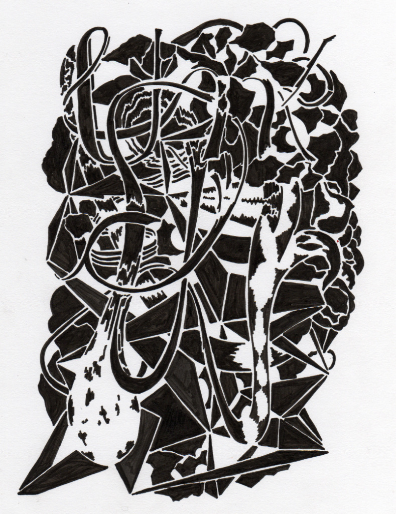 "Karl Hofmann, 2012, WEz, archival marker on paper, 8.5 x 11""."
