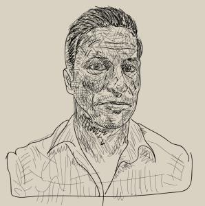 Karl Hofmann, self portrait, vector drawing, 2014