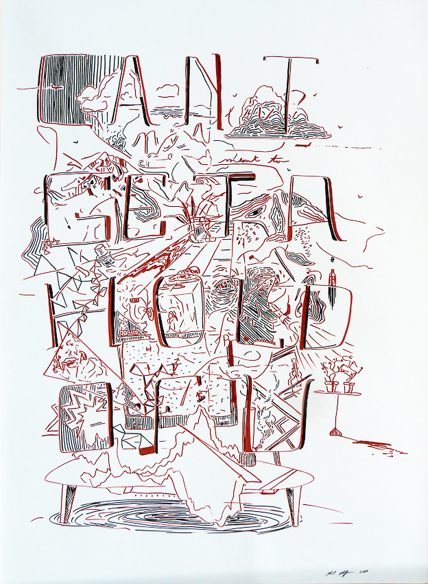 Karl Hofmann, Can't Get a Hold of You, ink on paper, 2010