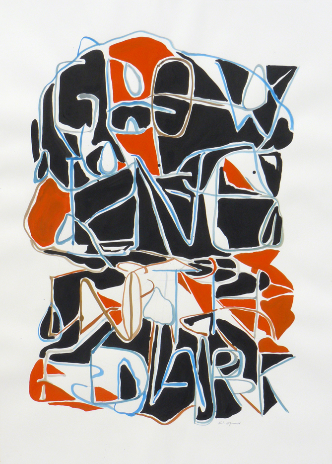 Karl Hofmann, Glowing in the Dark,  ink and gouache on paper, 2010