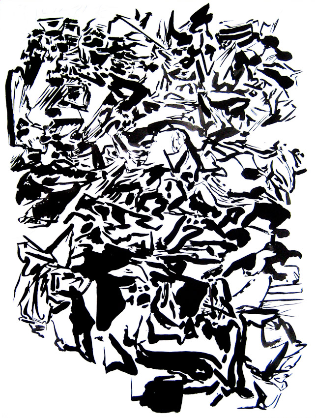 Karl Hofmann, Strength in Numbers, lnk on Paper, 2009