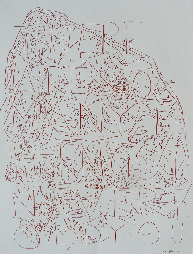 Karl Hofmann, Many Things Never Told, 2010, ink on paper
