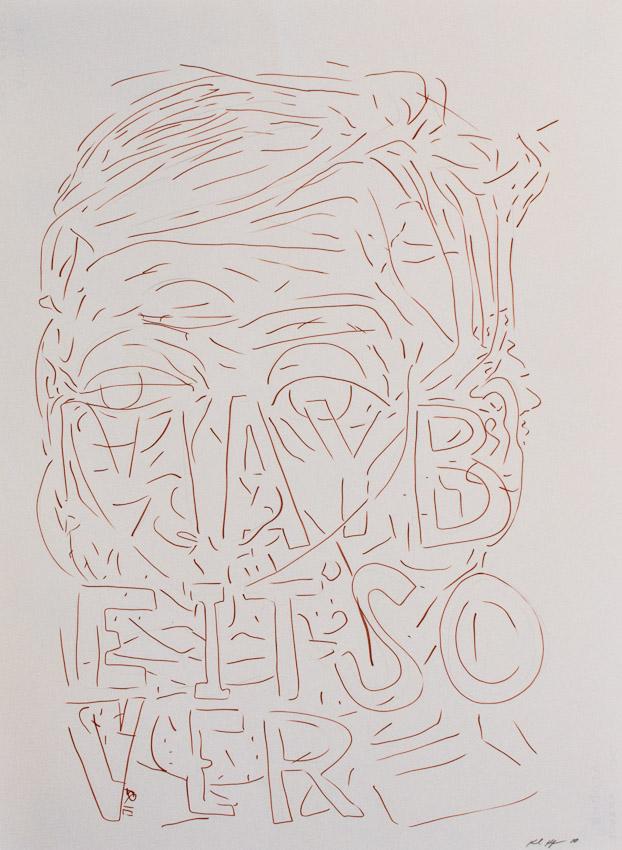 Karl Hofmann, Maybe Over, 2010, ink on paper