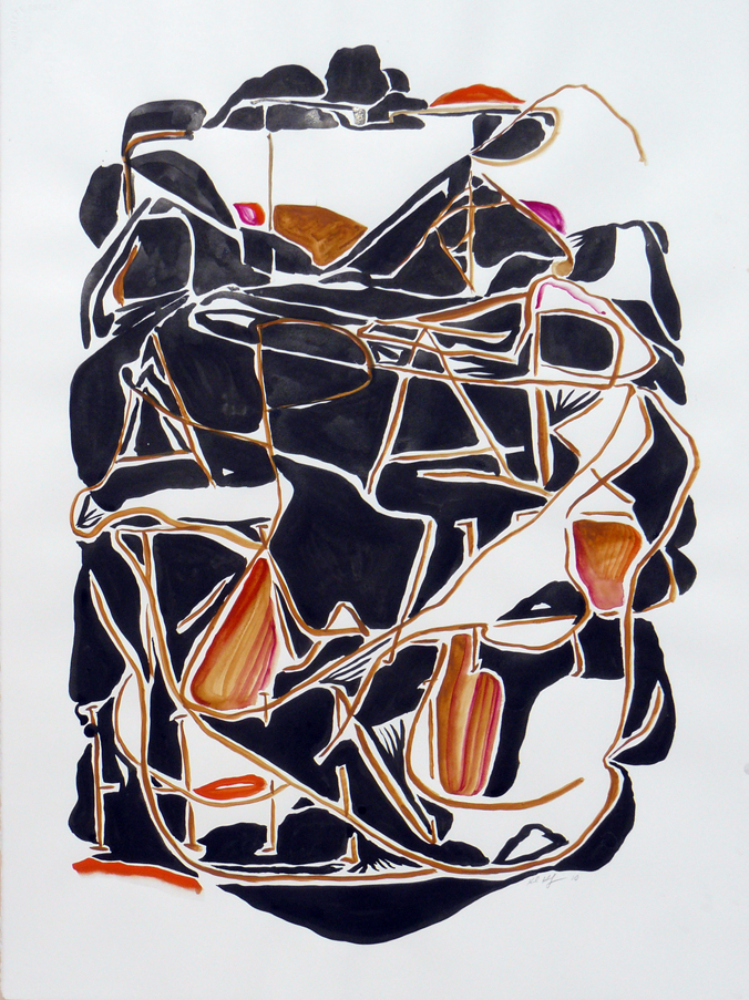 Karl Hofmann, Set Apart Within, 2010, ink gouache on paper