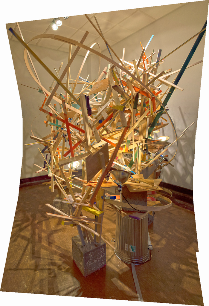 Karl Hofmann, A Second Life, 2014, wood, concrete, dimensions variable, 11' x 9' x  10'