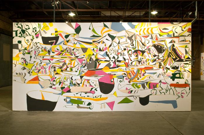 Karl Hofmann, Song Swan series wall paintings, 2008
