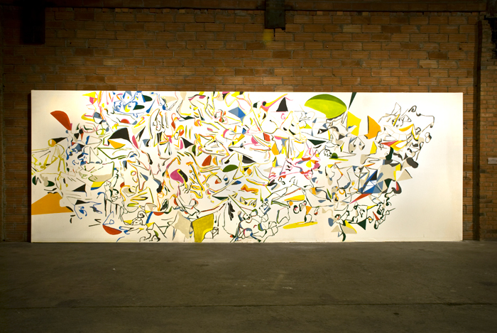 Karl Hofmann, Song Swan series wall paintings, 2008