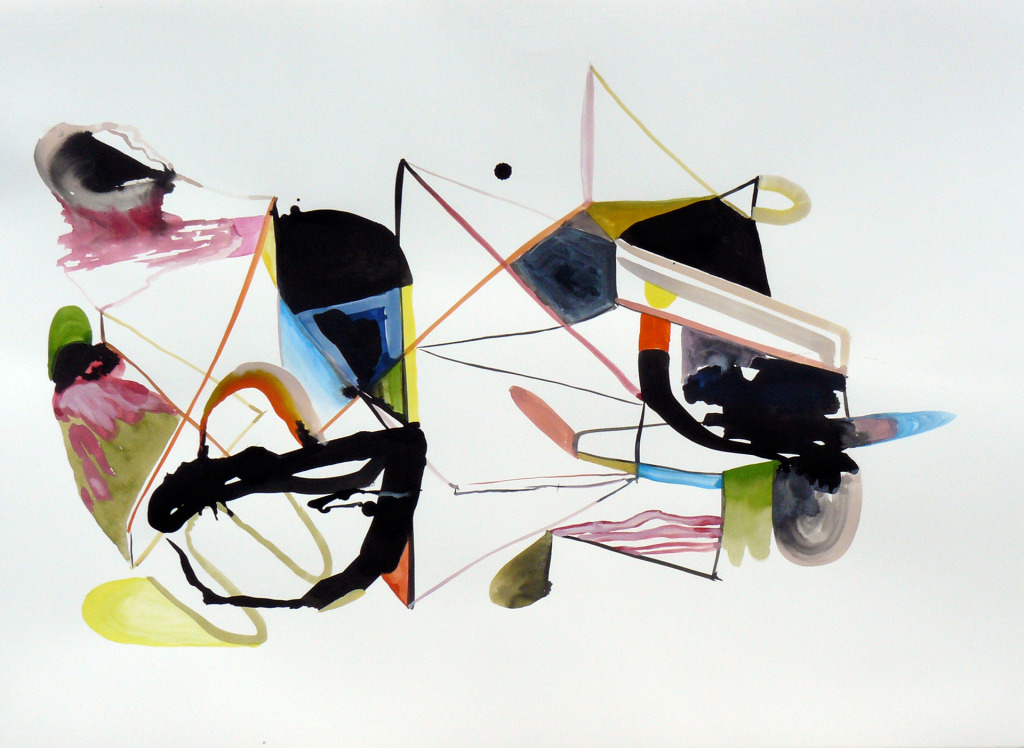 Karl Hofmann, 2008, Song Swan Series, untitled 01, ink, gouache, watercolor,  22 x 30""