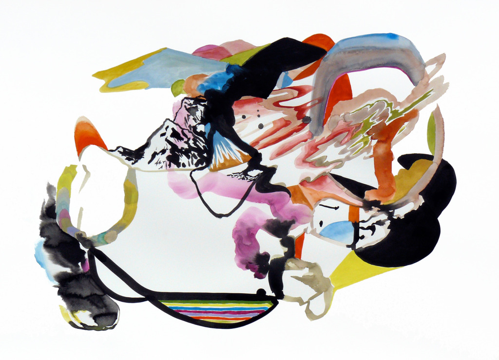 Karl Hofmann, 2008, Song Swan Series, untitled 02, ink, gouache, watercolor,  22 x 30""