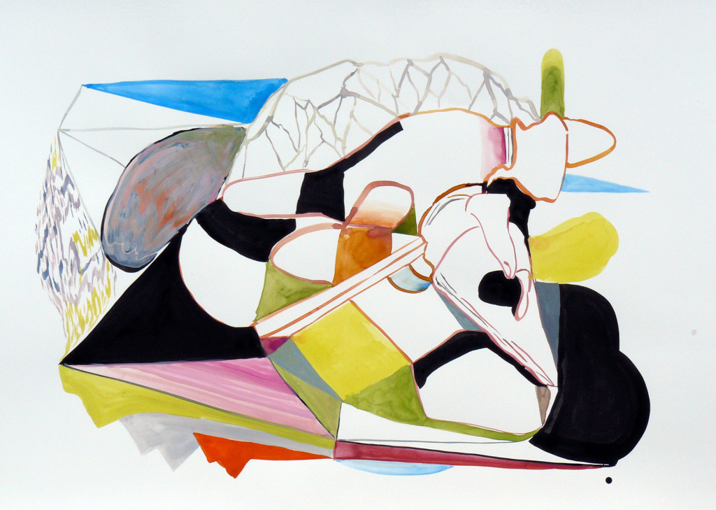 Karl Hofmann, 2008, Song Swan Series, untitled 03, ink, gouache, watercolor,  22 x 30""