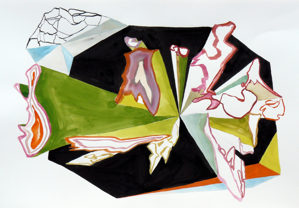 Karl Hofmann, 2008, Song Swan Series, untitled 04, ink, gouache, watercolor,  22 x 30""